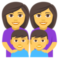 Family: Woman, Woman, Boy, Boy on EmojiOne 4.0