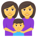 Family: Woman, Woman, Boy on EmojiOne 4.0
