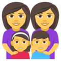 Family: Woman, Woman, Girl, Boy on EmojiOne 4.0