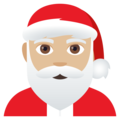 Santa Claus: Medium-Light Skin Tone on EmojiOne 4.0