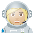 Woman Astronaut: Medium-Light Skin Tone on EmojiOne 4.0