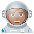 Woman Astronaut: Medium Skin Tone on EmojiOne 4.0