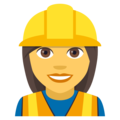 Woman Construction Worker on EmojiOne 4.0