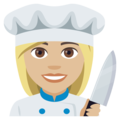 Woman Cook: Medium-Light Skin Tone on EmojiOne 4.0