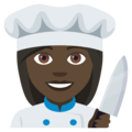 Woman Cook: Dark Skin Tone on EmojiOne 4.0