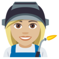 Woman Factory Worker: Medium-Light Skin Tone on EmojiOne 4.0