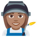 Woman Factory Worker: Medium Skin Tone on EmojiOne 4.0