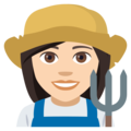 Woman Farmer: Light Skin Tone on EmojiOne 4.0