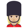 Woman Guard: Medium-Light Skin Tone on EmojiOne 4.0
