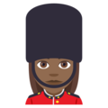 Woman Guard: Medium-Dark Skin Tone on EmojiOne 4.0