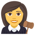 Woman Judge on EmojiOne 4.0