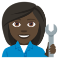Woman Mechanic: Dark Skin Tone on EmojiOne 4.0