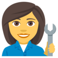Woman Mechanic on EmojiOne 4.0