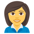 Woman Office Worker on EmojiOne 4.0