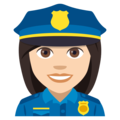 Woman Police Officer: Light Skin Tone on EmojiOne 4.0