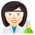 Woman Scientist: Light Skin Tone on EmojiOne 4.0
