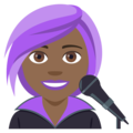 Woman Singer: Medium-Dark Skin Tone on EmojiOne 4.0