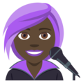 Woman Singer: Dark Skin Tone on EmojiOne 4.0