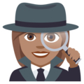 Woman Detective: Medium Skin Tone on EmojiOne 4.0