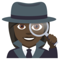 Woman Detective: Dark Skin Tone on EmojiOne 4.0