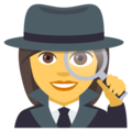 Woman Detective on EmojiOne 4.0