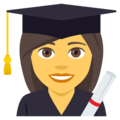 Woman Student on EmojiOne 4.0