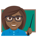 Woman Teacher: Medium-Dark Skin Tone on EmojiOne 4.0