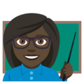 Woman Teacher: Dark Skin Tone on EmojiOne 4.0