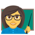 Woman Teacher on EmojiOne 4.0