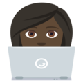 Woman Technologist: Dark Skin Tone on EmojiOne 4.0