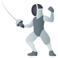 Person Fencing on EmojiOne 4.0