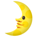 First Quarter Moon Face on EmojiOne 4.0