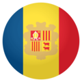 Flag: Andorra on EmojiOne 4.0