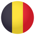 Flag: Belgium on EmojiOne 4.0