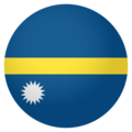 Flag: Nauru on EmojiOne 4.0