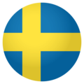 Flag: Sweden on EmojiOne 4.0