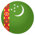 Flag: Turkmenistan on EmojiOne 4.0