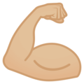 Flexed Biceps: Medium-Light Skin Tone on EmojiOne 4.0