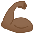 Flexed Biceps: Medium-Dark Skin Tone on EmojiOne 4.0