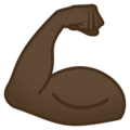 Flexed Biceps: Dark Skin Tone on EmojiOne 4.0