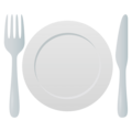 Fork and Knife With Plate on EmojiOne 4.0