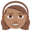 Girl: Medium Skin Tone on EmojiOne 4.0