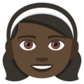 Girl: Dark Skin Tone on EmojiOne 4.0