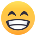 Beaming Face With Smiling Eyes on EmojiOne 4.0
