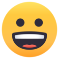 Grinning Face on EmojiOne 4.0