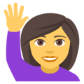 Person Raising Hand on EmojiOne 4.0