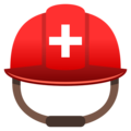 Rescue Worker's Helmet on EmojiOne 4.0