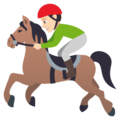 Horse Racing: Light Skin Tone on EmojiOne 4.0