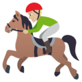 Horse Racing: Medium-Light Skin Tone on EmojiOne 4.0