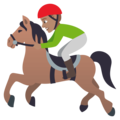 Horse Racing: Medium Skin Tone on EmojiOne 4.0